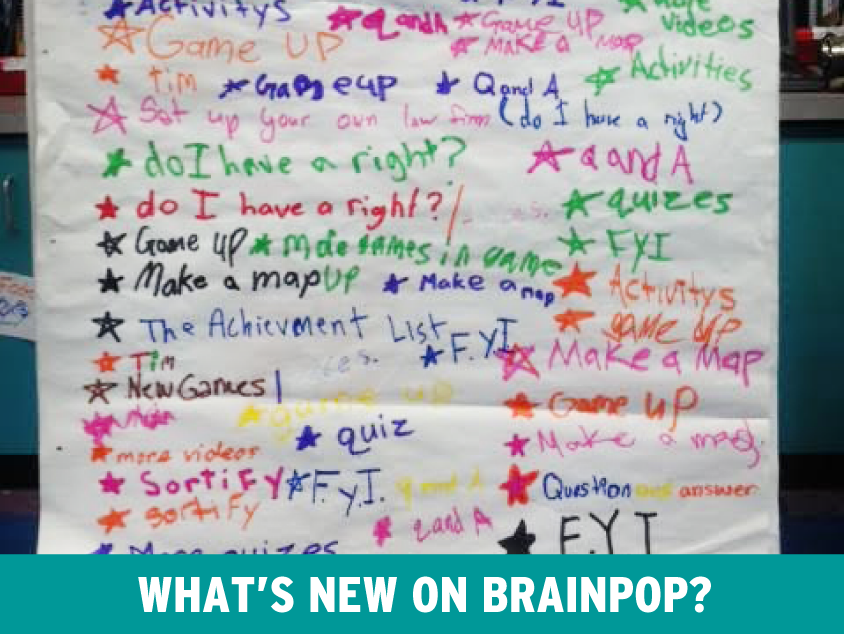 New Features on BrainPOP