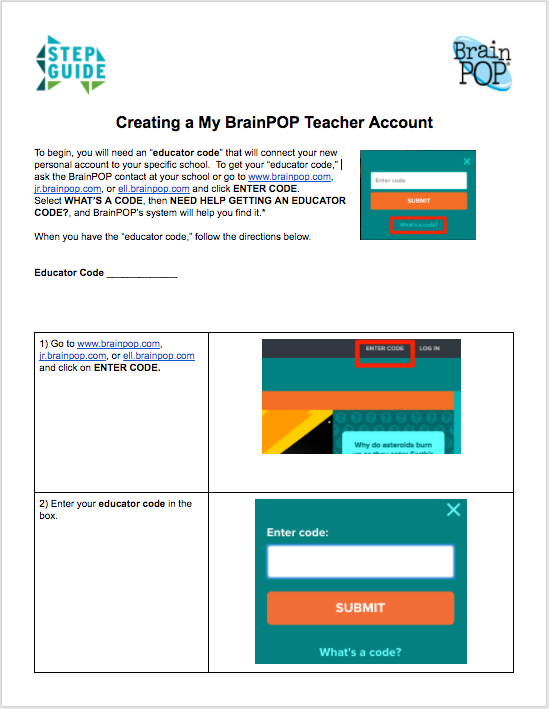 Teacher Account Setup