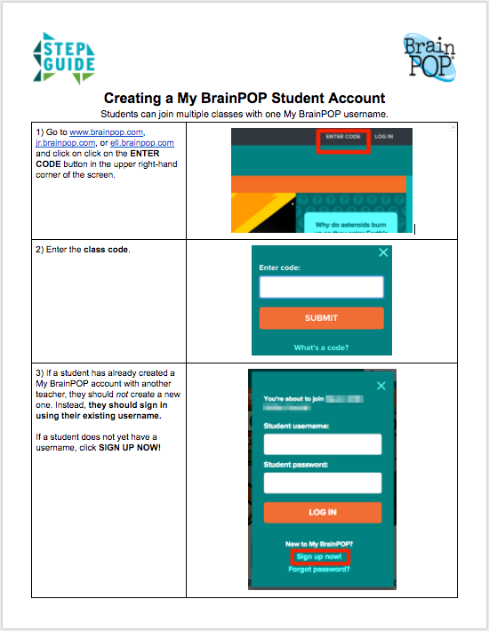 Student Account Setup