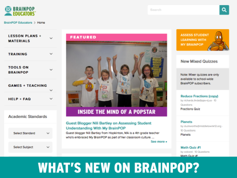 Updated BrainPOP Educators Look