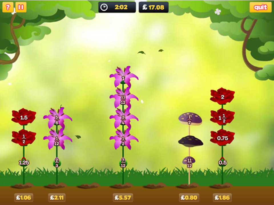 Flower Power Math Game