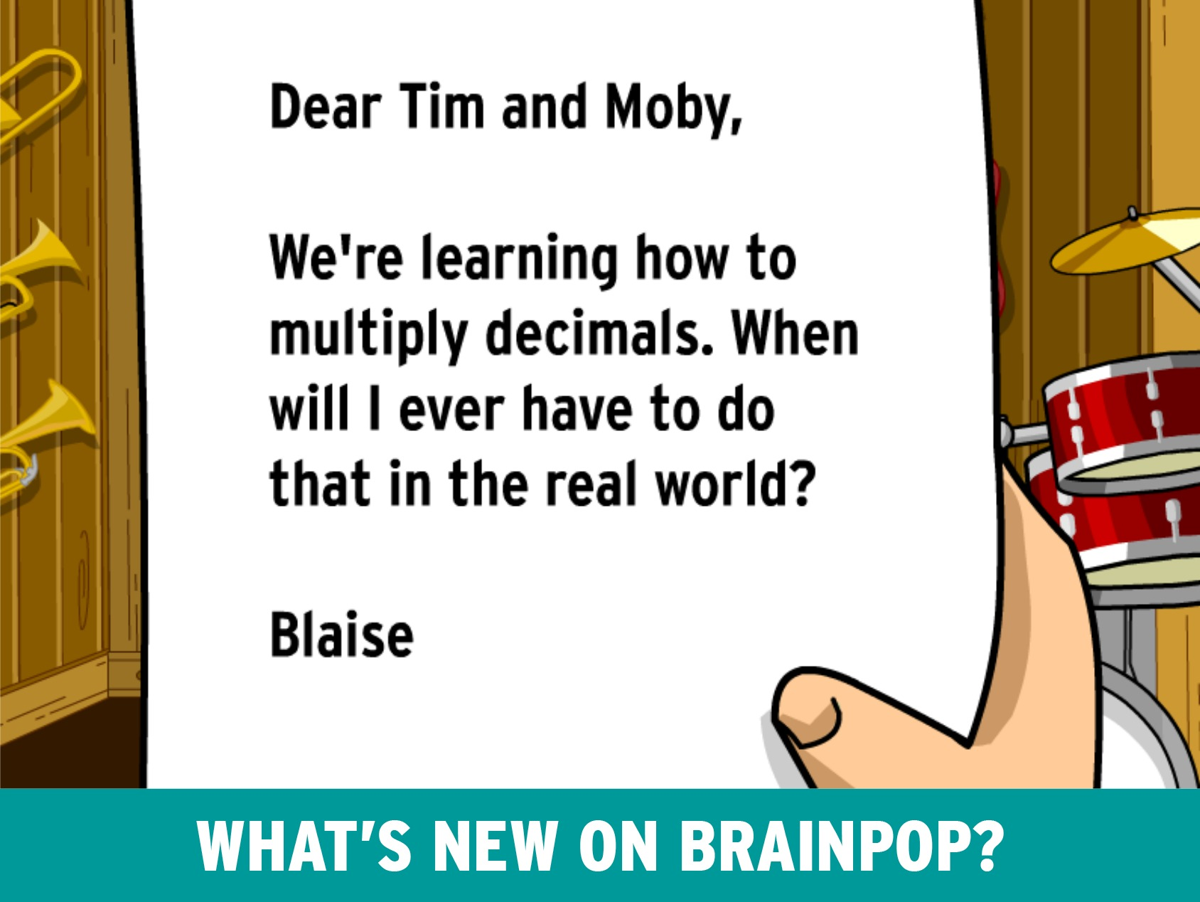 New on BrainPOP: Multiplying Decimals Movie