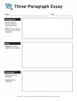 3 paragraph essay graphic organizer