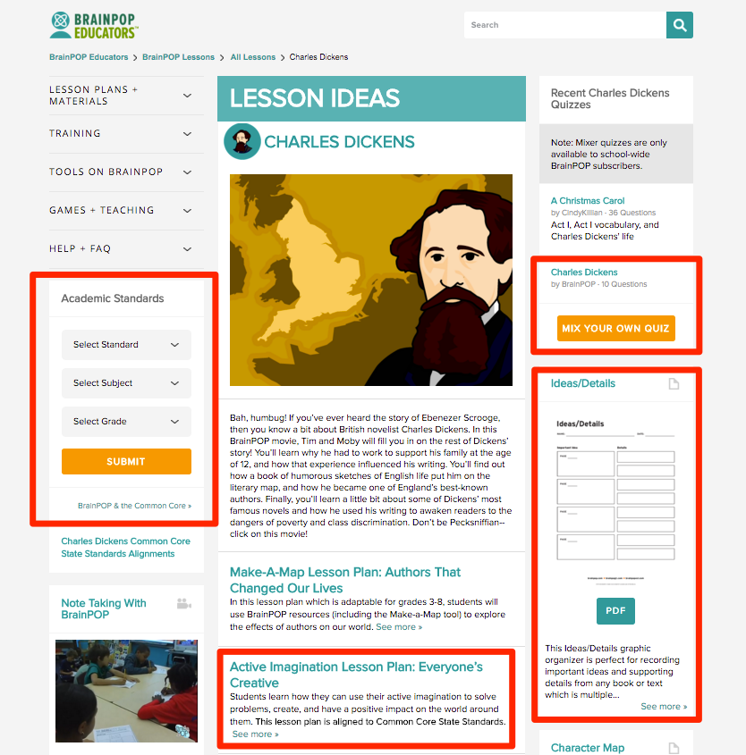 What is the Lesson Ideas feature 2