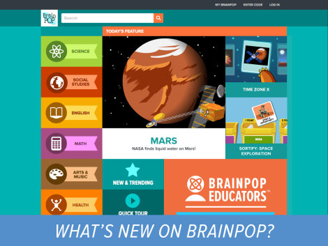 BrainPOP New Site Design