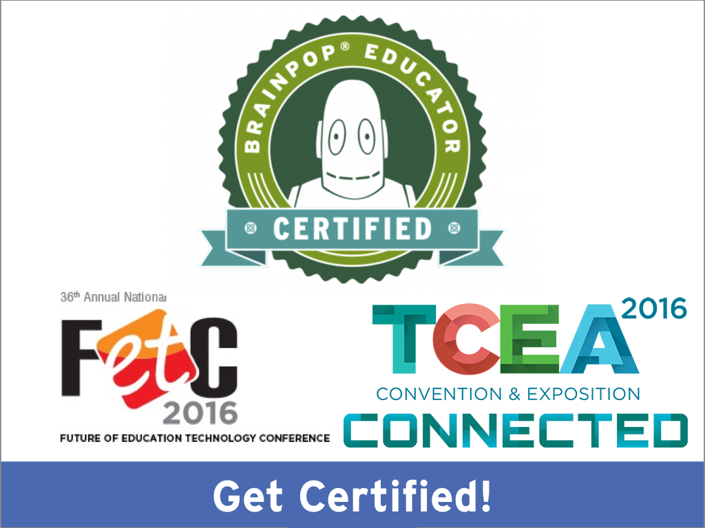 Get Certified At Fetc And Tcea Brainpop Educators