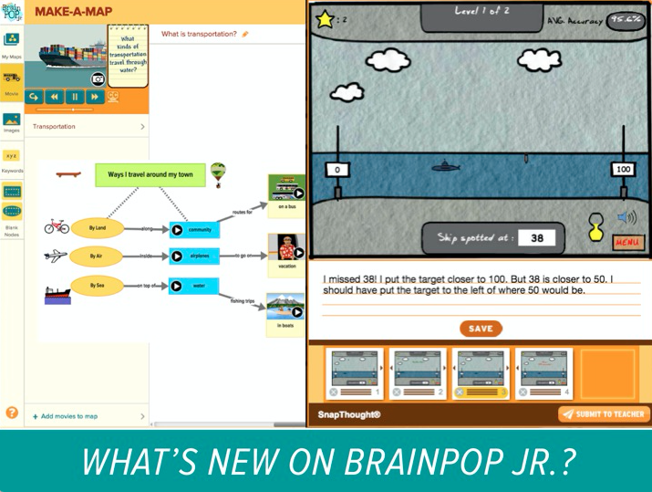 Introducing Make-a-Map and SnapThought for BrainPOP Jr.!