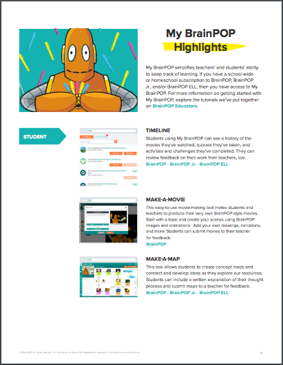 My BrainPOP Highlights