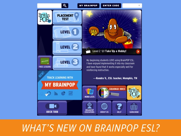 My BrainPOP for BrainPOP ESL is Here!