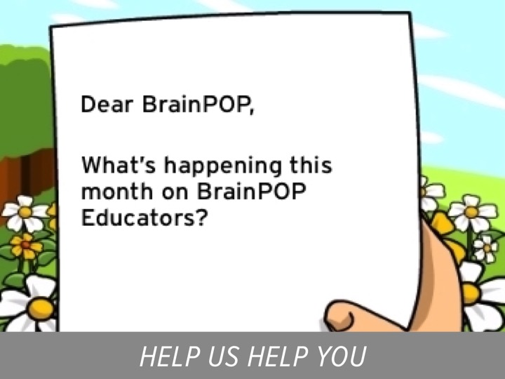 Join us for live BrainPOP! – March 2016