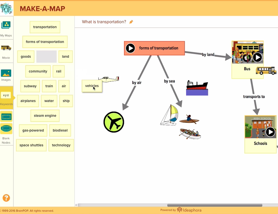 Make-a-Map for BrainPOP Jr. –  5 minute Overview