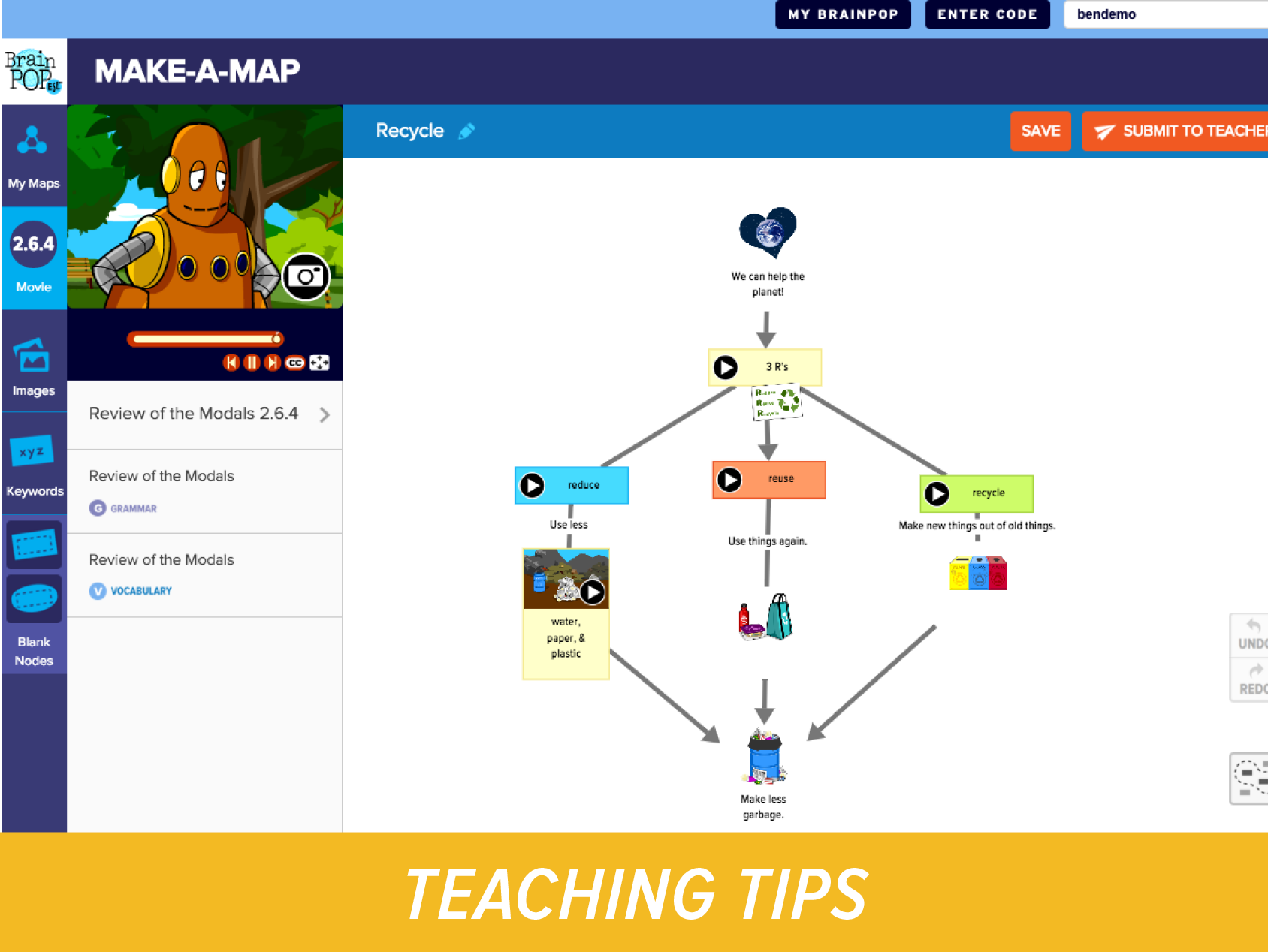Make-a-Map and BrainPOP ELL