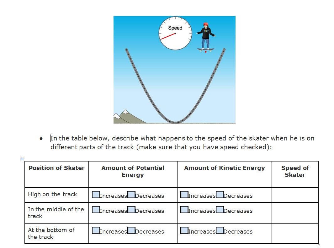 Speed Potential Energy Kinetic Energy Printable Brainpop Educators