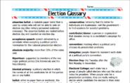 Election Glossary
