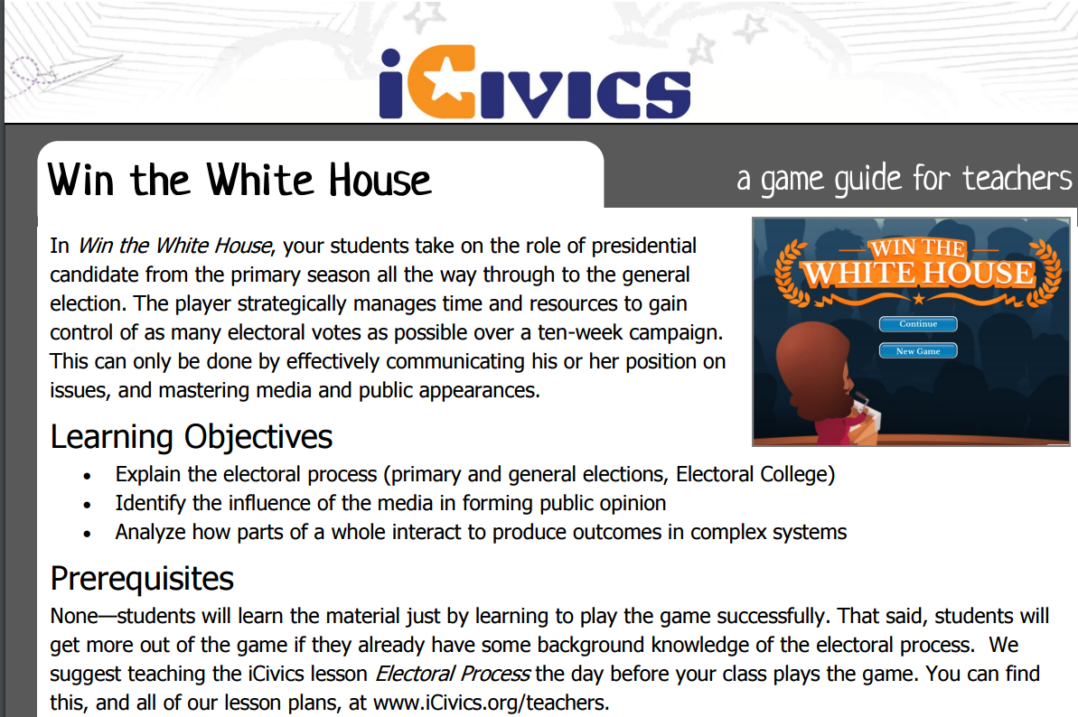Win the White House Game Guide