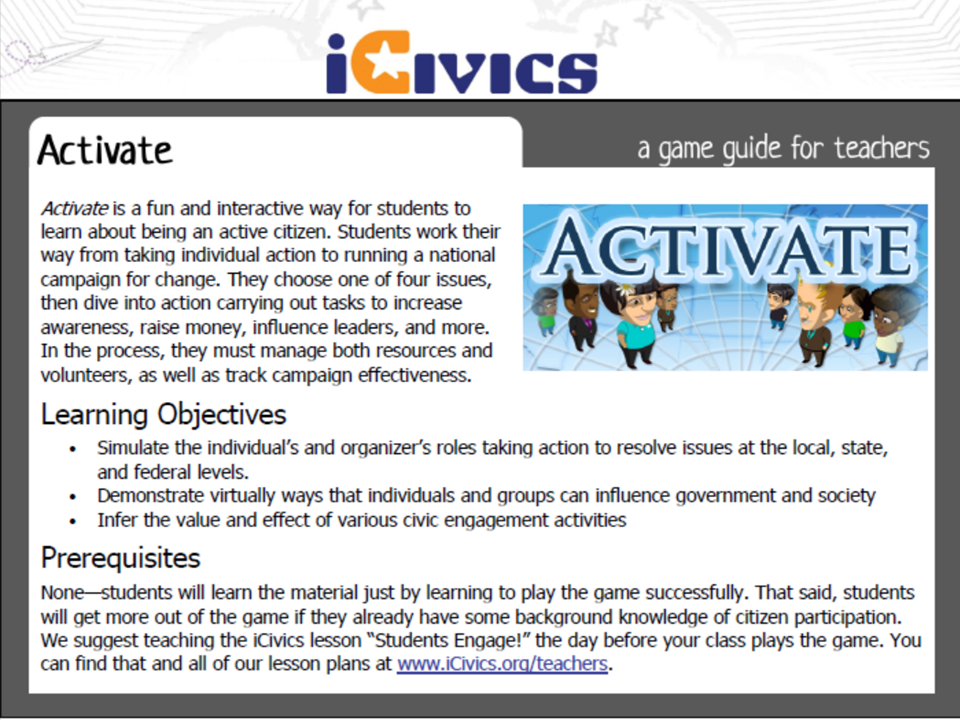 Activate Game Guide