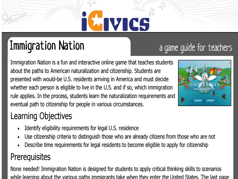 Immigration Nation Game Guide