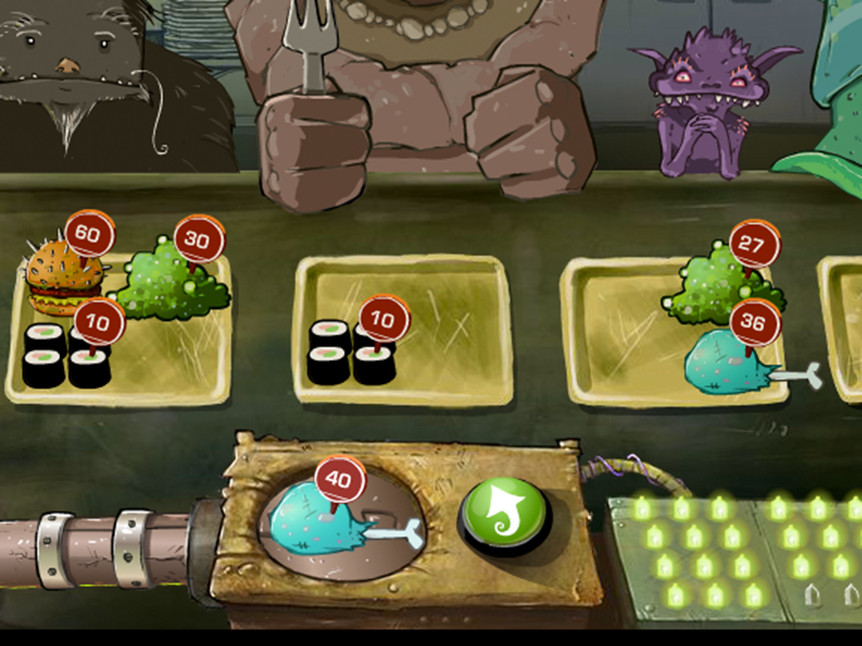Lure of the Labyrinth: Cafeteria Math Game