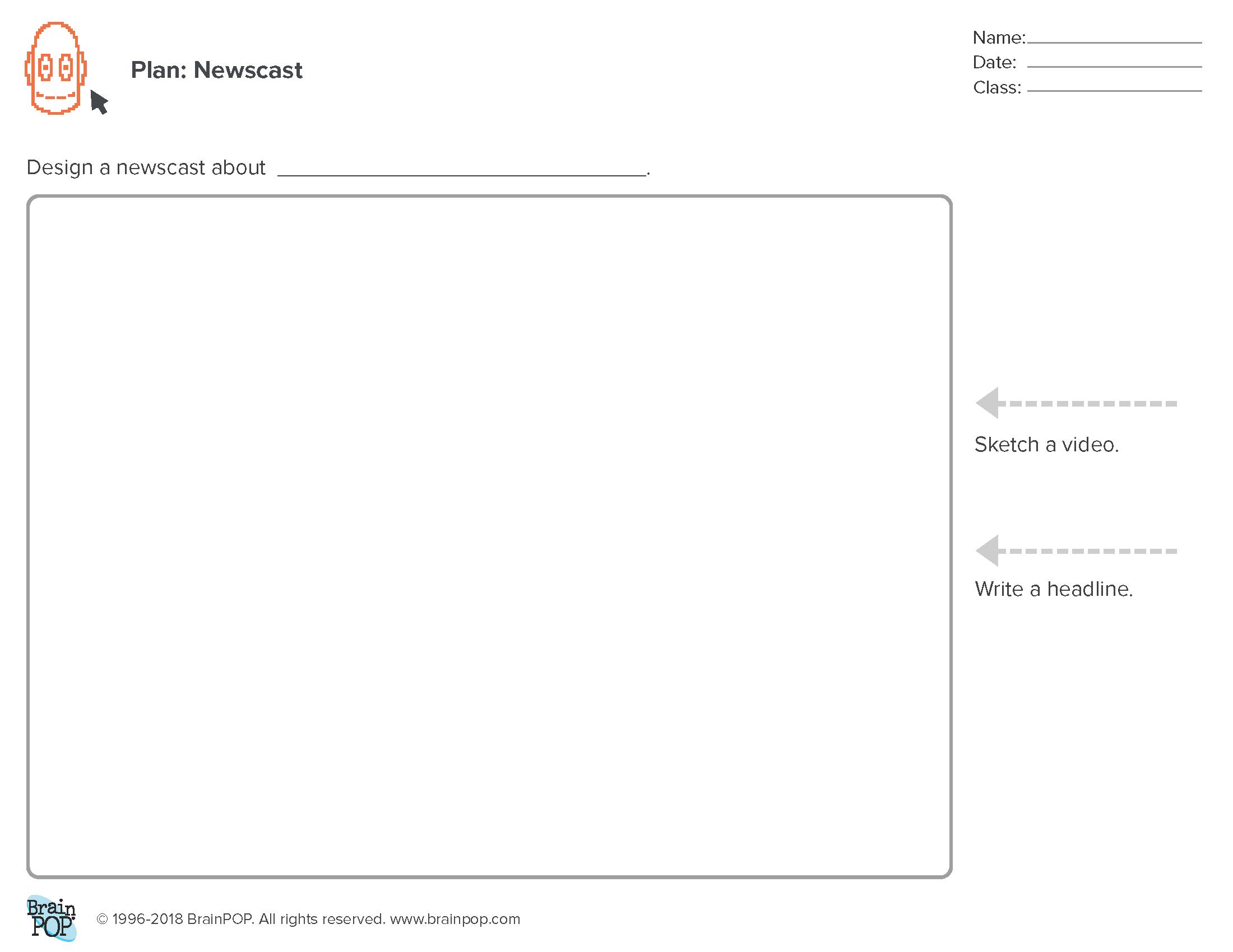 Planning Sheet: Newscast