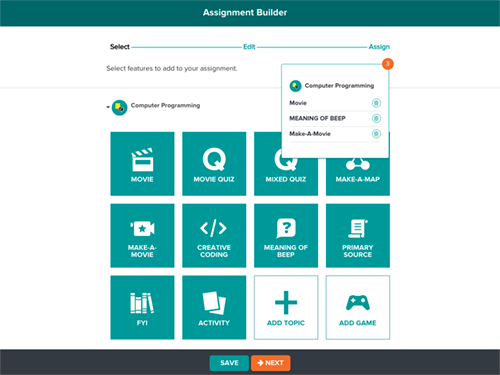 Introducing the New Assignment Builder on BrainPOP and BrainPOP Jr.!