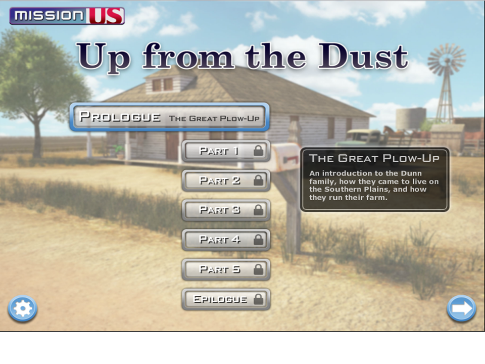 Mission US: Up from the Dust is now on GameUp