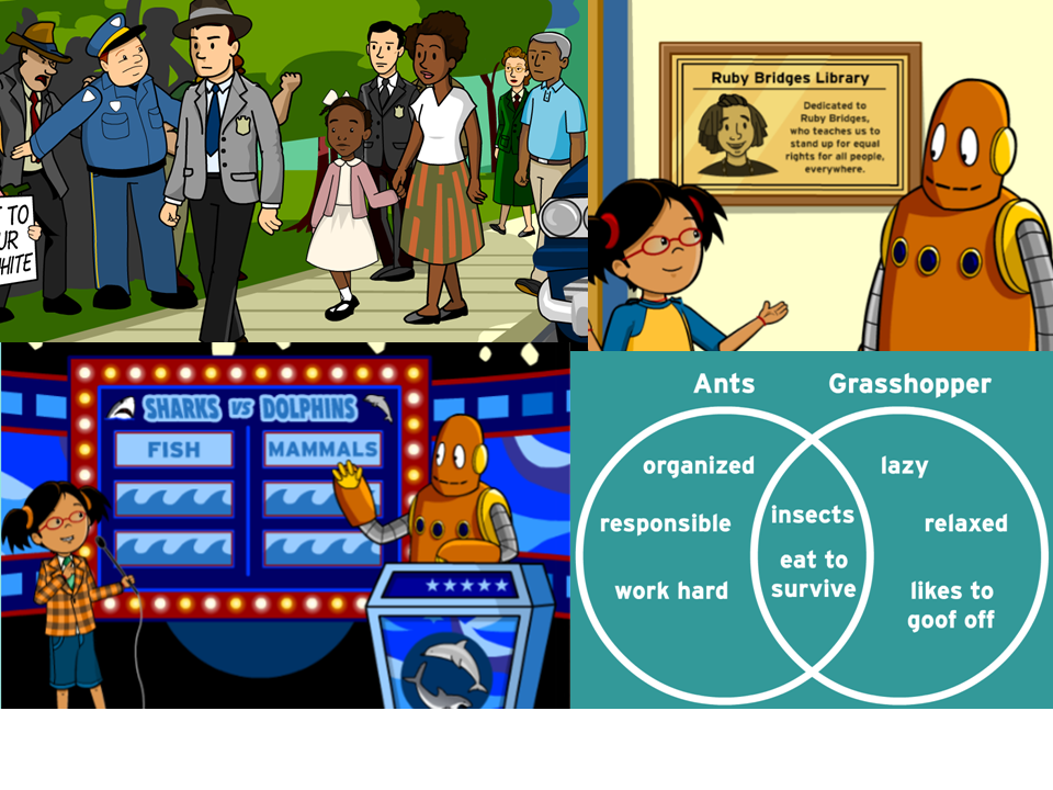 New on BrainPOP Jr: Ruby Bridges and Compare & Contrast