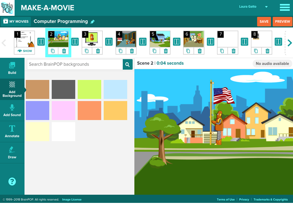 Make-a-Movie Now Has Background Scenes and Other Exciting Updates!