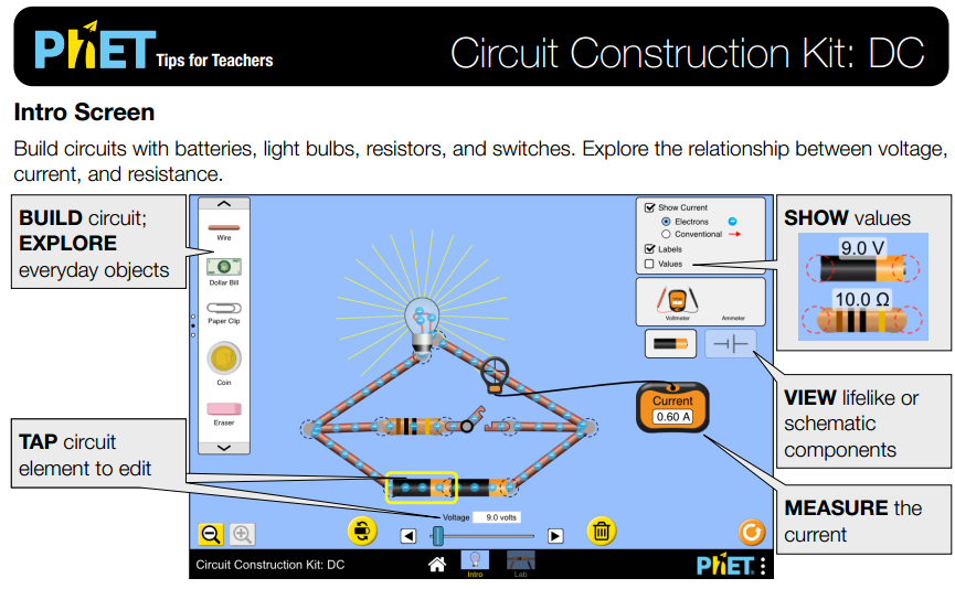 Circuit Construction Kit: DC Simulation Overview for Teachers