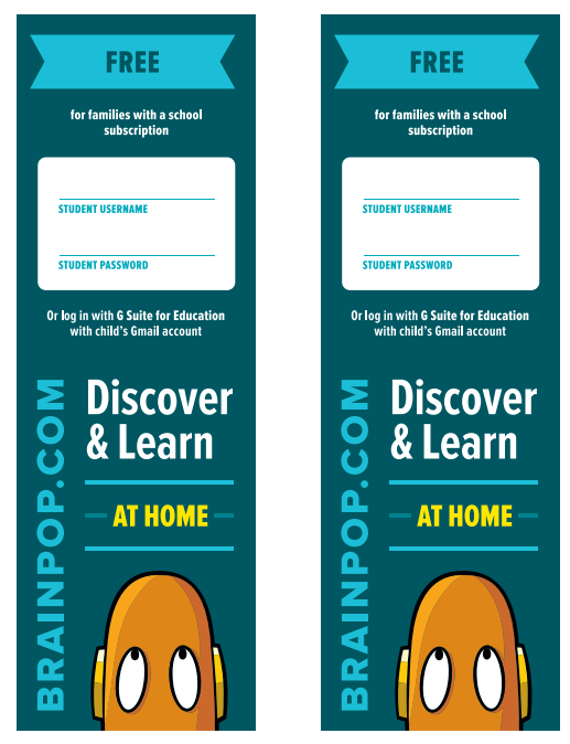 BrainPOP Login Bookmark