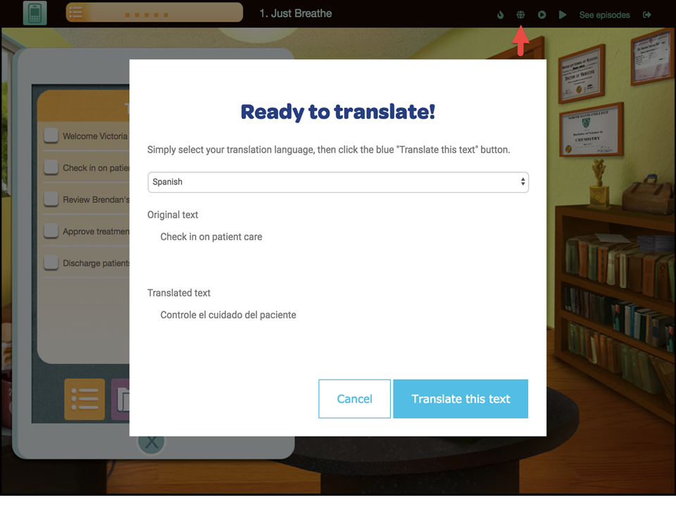 Translations Now in Classroom, Inc. Games
