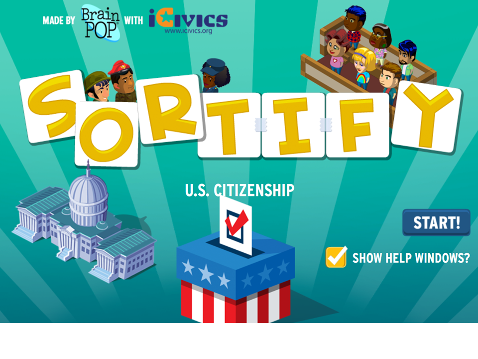 BrainPOP & iCivics Team Up for a Special Sortify!