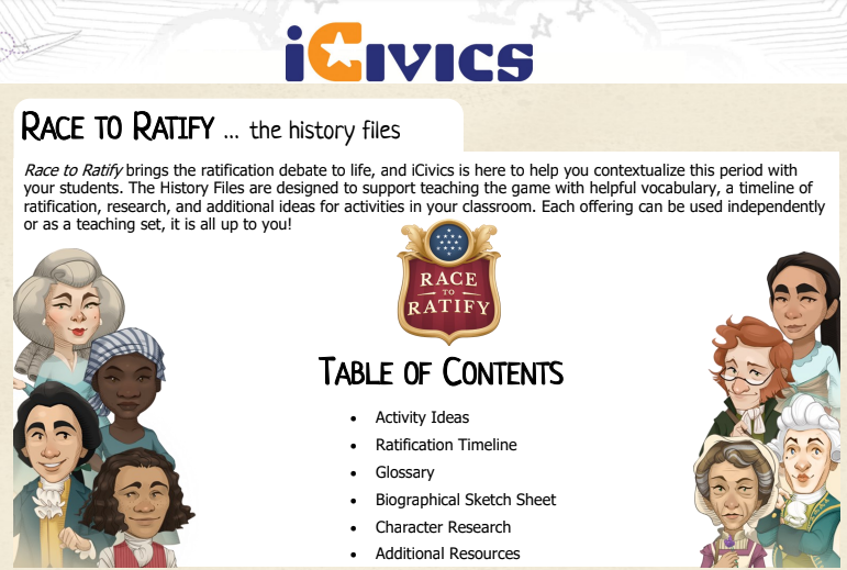 Race to Ratify: History Files