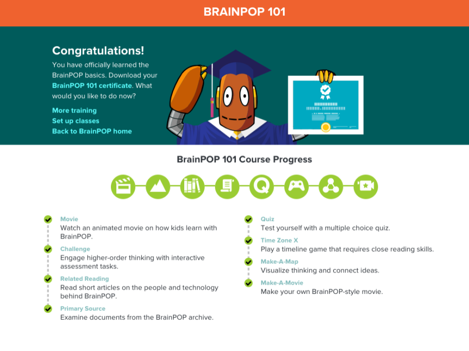 BrainPOP 101 in Action – A CBE's Experience