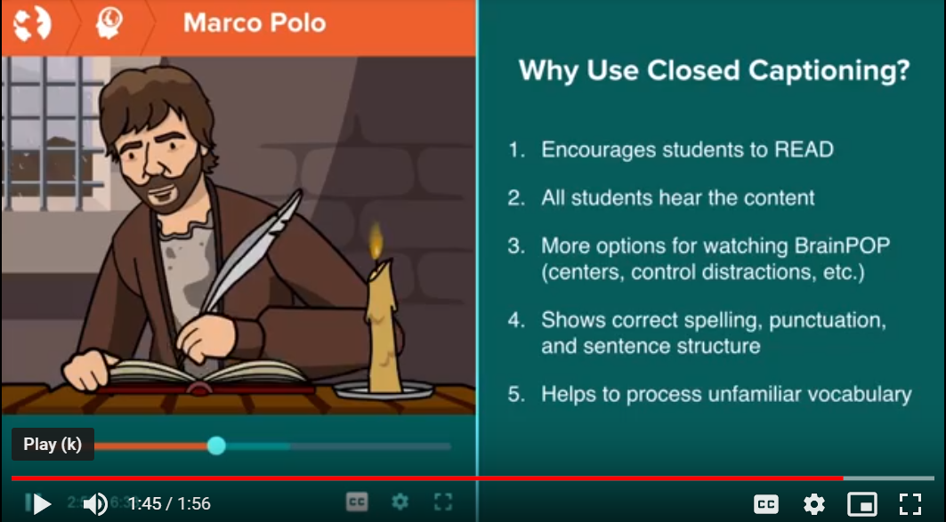 Strategies for BrainPOP Movie Engagement