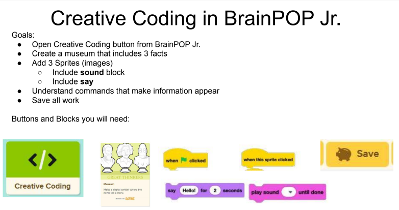 Getting Started With Creative Coding on BrainPOP Jr.