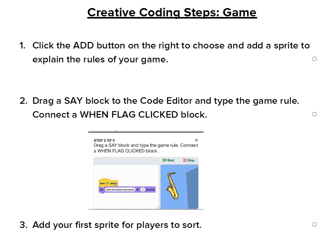 Creative Coding Steps: Game