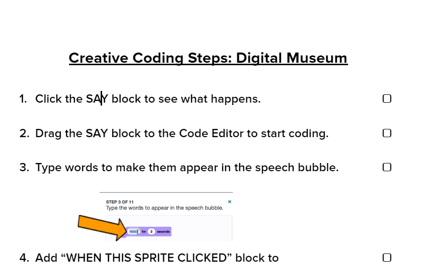 Creative Coding Steps: Digital Museum