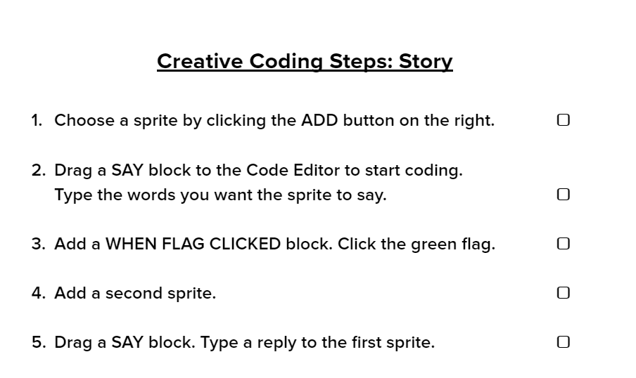 Creative Coding Steps: Story