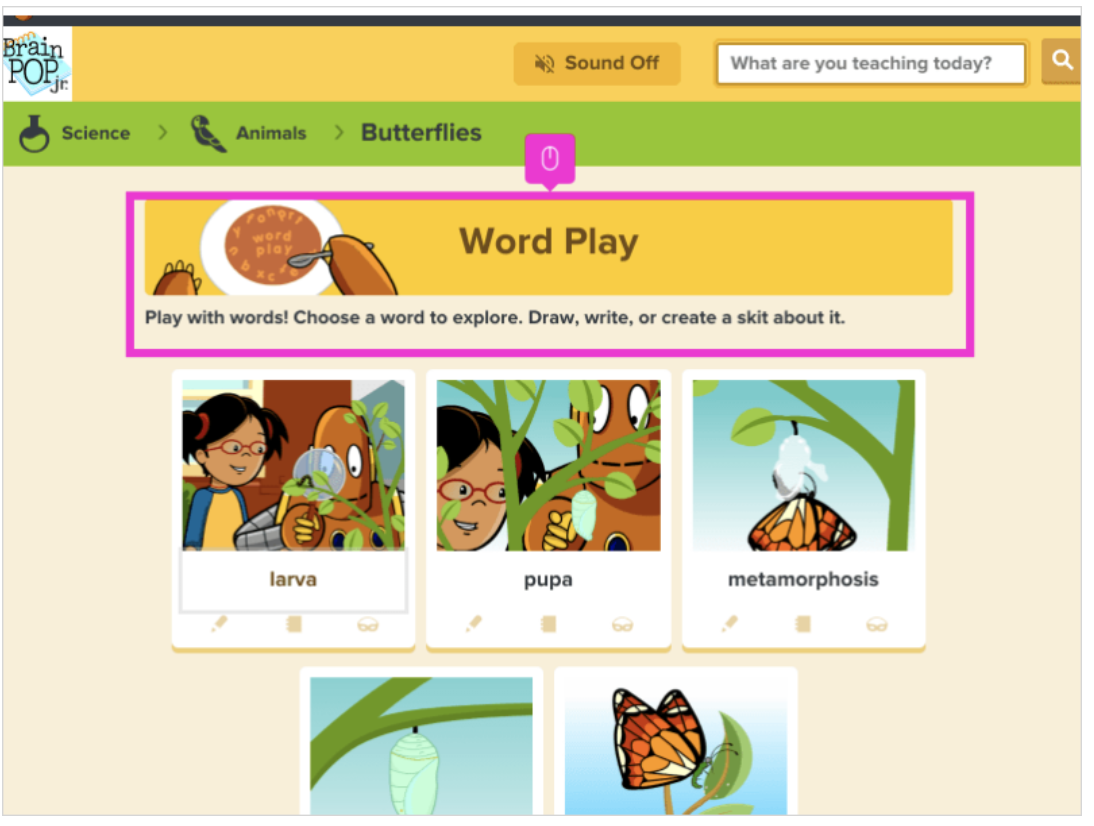 How to use Word Play on BrainPOP Jr.