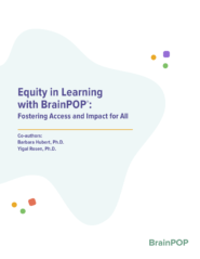 title page for Equity and BrainPOP Whitepaper