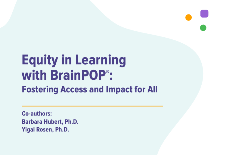 Front page of BrainPOP Equity whitepaper.
