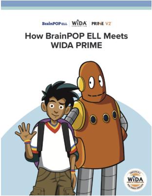 WIDA BrainPOP Prime alignment document