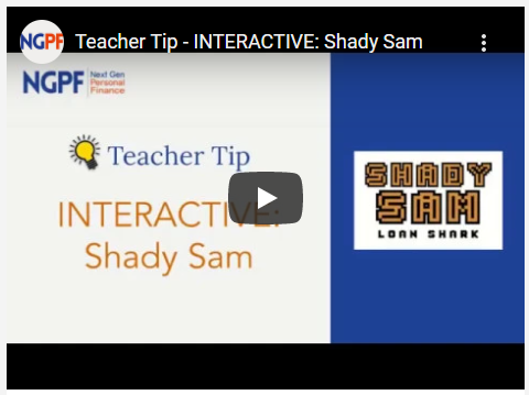 Shady Sam Video Teacher Tip