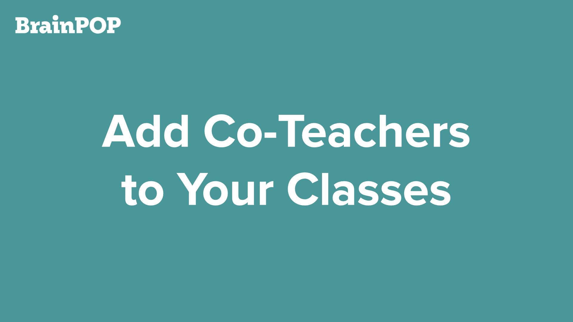 Co-Teacher Tutorial